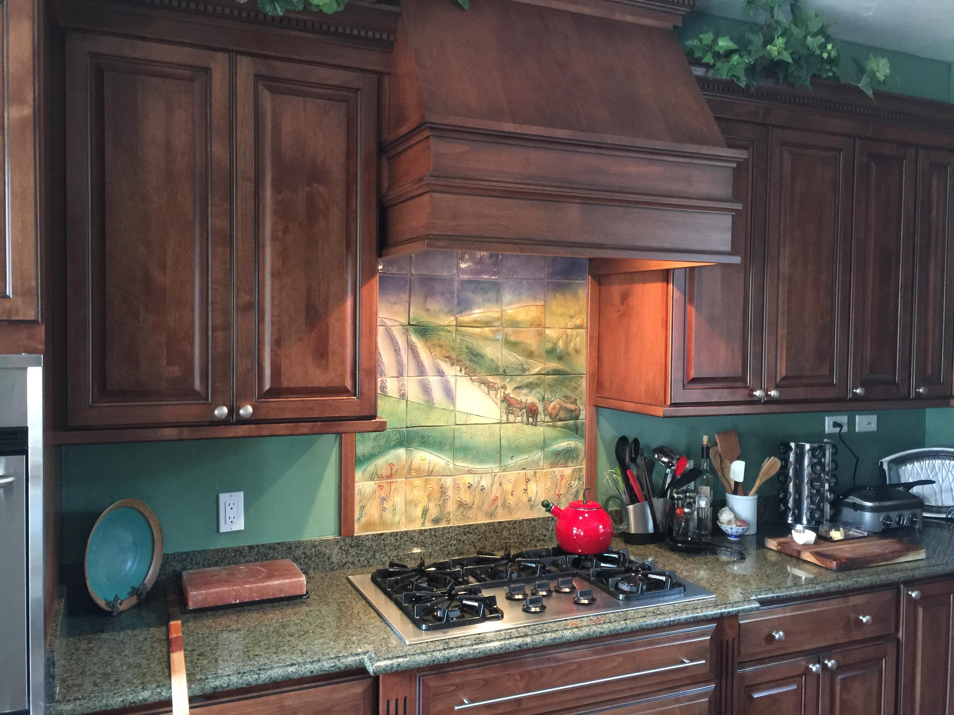 Custom Kitchen Backsplash: Elk on the Range - a Blog Entry - Brenda ...