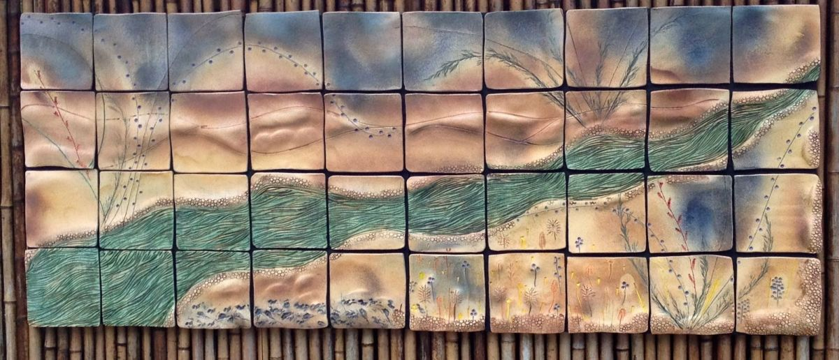 Dream Stream Ceramic Wall Art Tile