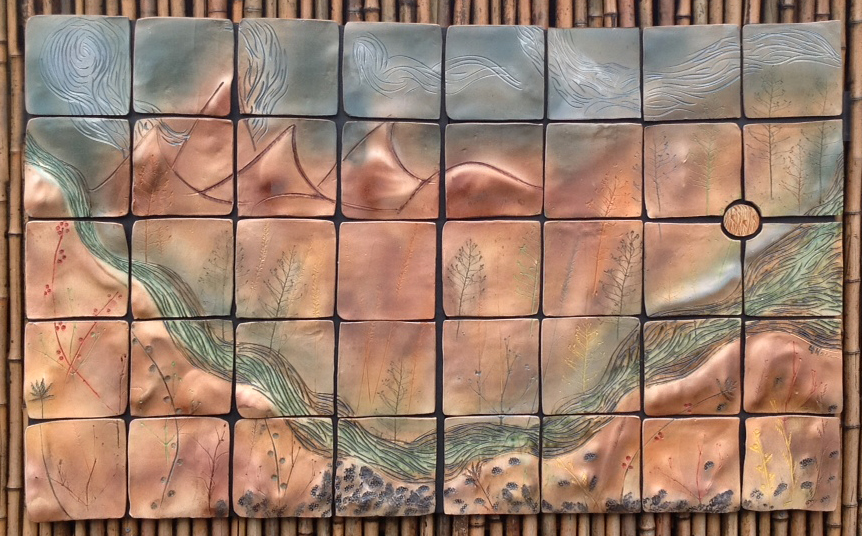 Rocky Mountain Summits: Ceramic Wall Art Tile
