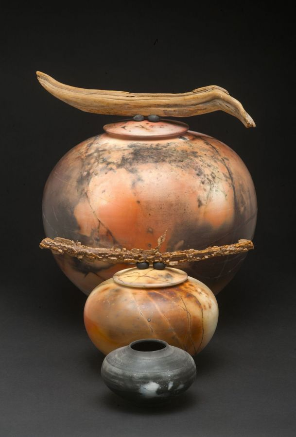 Three in a Row:  Saggar Fired Vessels