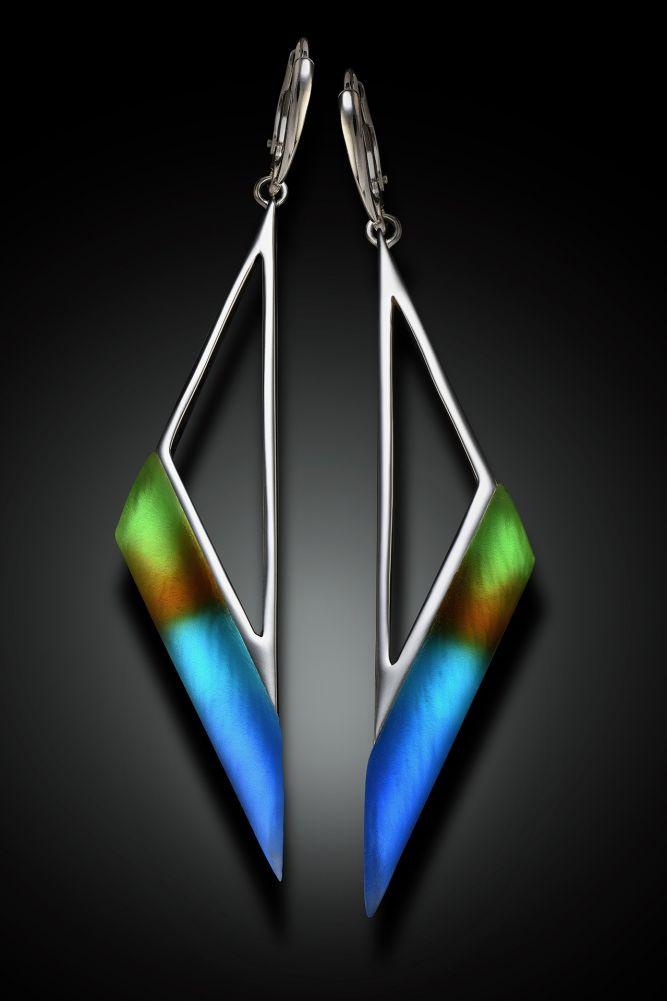 Scalene Triangle Earrings
