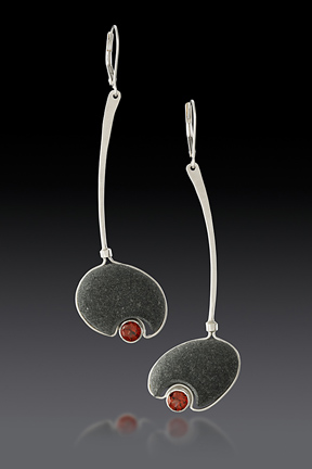 Gentle Current Garnet Earrings