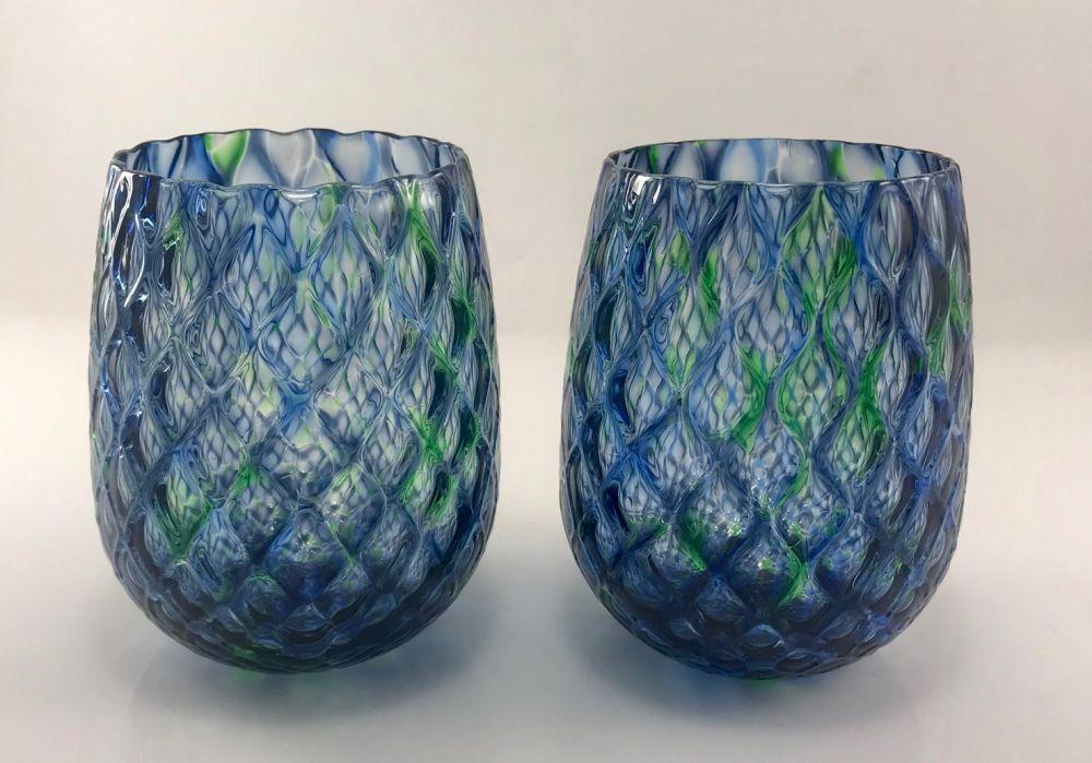blue-Green Tumblers
