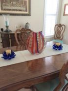 Cobalt & Orange Glasswork
