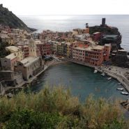Looking down at Vernazza