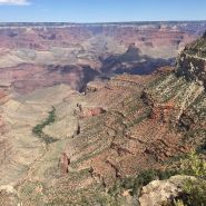 The south rim of the canyon from above