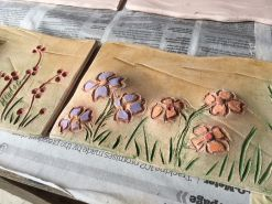 Wild flowers glazed