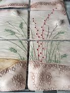 Wild Grasses with red accents