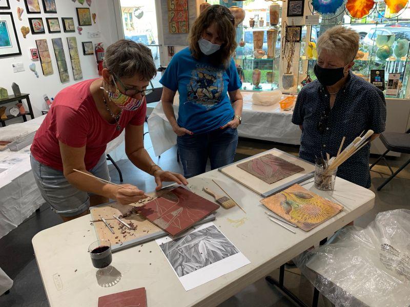 Ceramic Workshop Underway